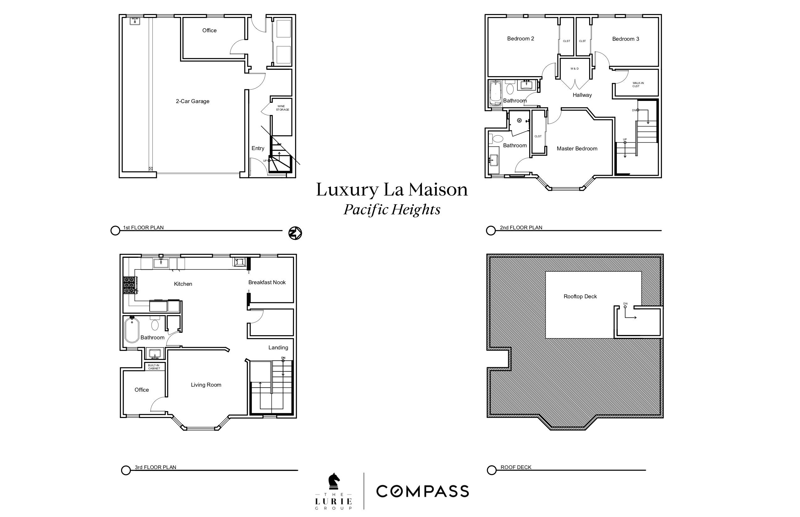 Luxury La Maison FLOOR PLANS (1)